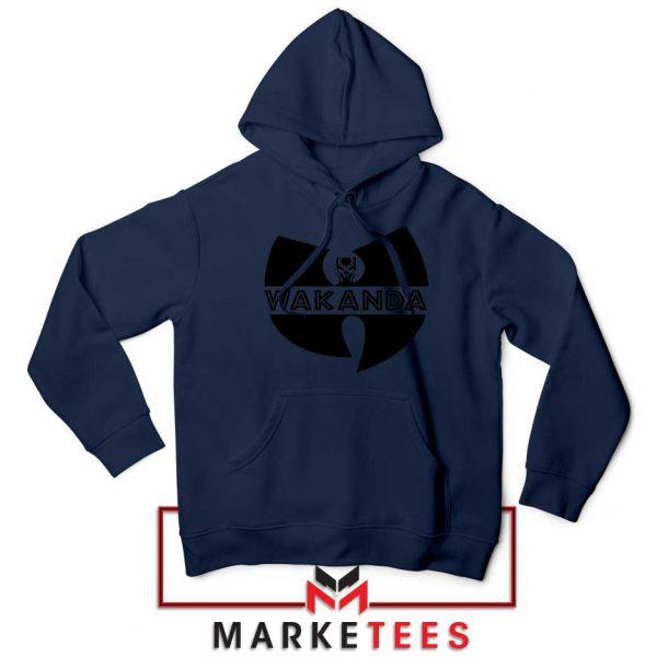 Buy Cheap Wakanda Logo Navy Blue Hoodie