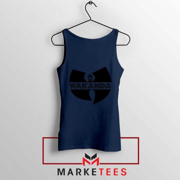 Buy Cheap Wakanda Logo Navy Blue Tank Top