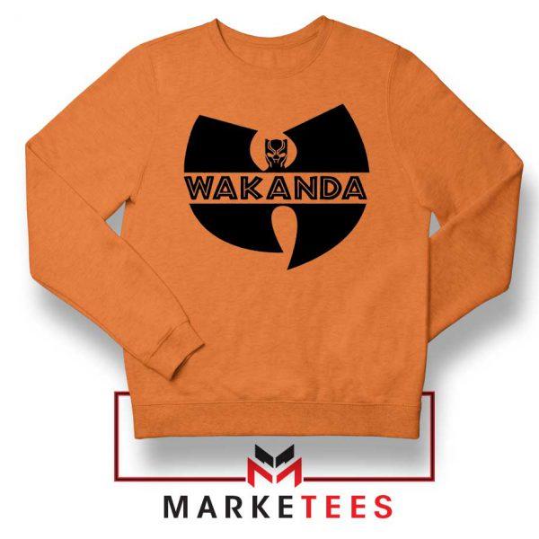 Buy Cheap Wakanda Logo Orange Sweatshirt