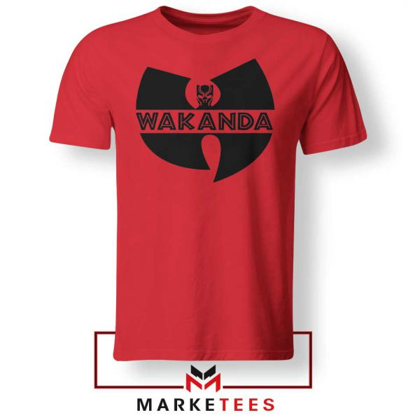 Buy Cheap Wakanda Logo Red Tee Shirt