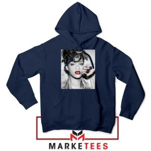 Buy Rihanna Music Singer Navy Blue Hoodie