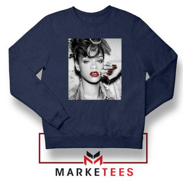 Buy Rihanna Music Singer Navy Blue Sweater