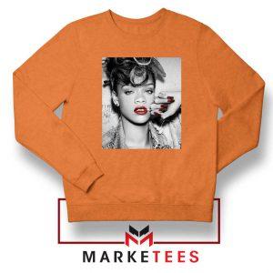 Buy Rihanna Music Singer Orange Sweater