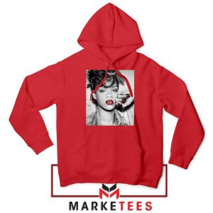 Buy Rihanna Music Singer Red Hoodie