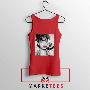 Buy Rihanna Music Singer Red Tank Top