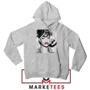 Buy Rihanna Music Singer Sport Grey Hoodie