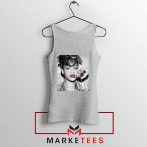 Buy Rihanna Music Singer Sport Grey Tank Top