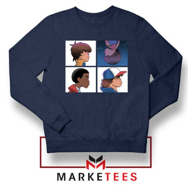Buy Stranger Things Characters Navy Blue Sweater