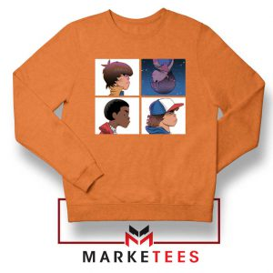 Buy Stranger Things Characters Orange Sweater