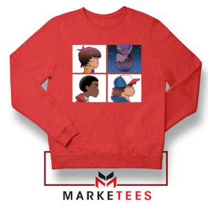 Buy Stranger Things Characters Red Sweater