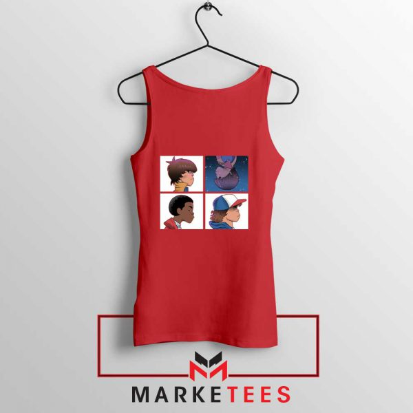 Buy Stranger Things Characters Red Tank Top