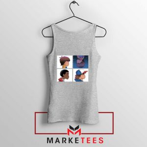 Buy Stranger Things Characters Sport Grey Tank Top