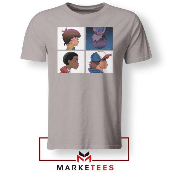 Buy Stranger Things Characters Sport Grey Tee Shirt