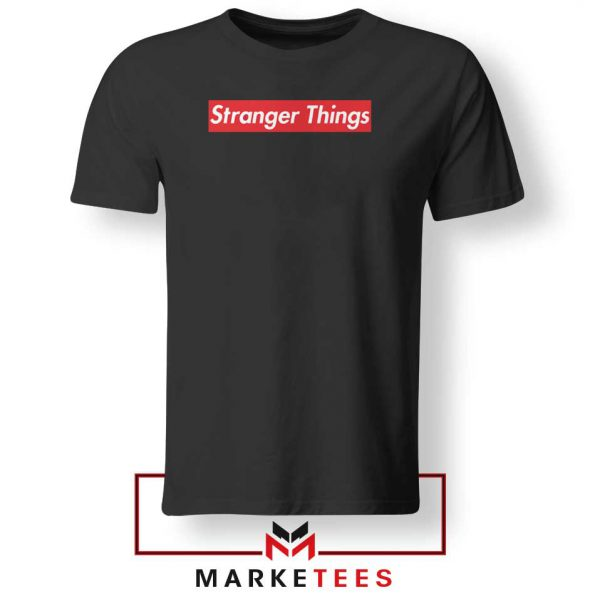 Buy Stranger Things Supreme Black Tee Shirt