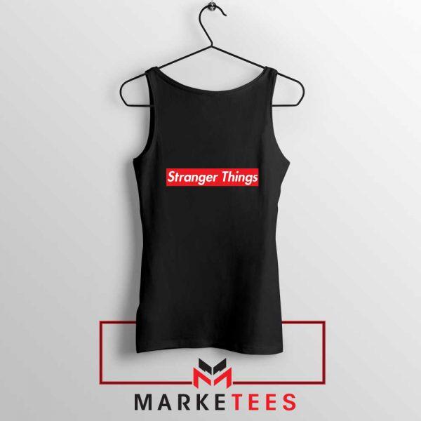 Buy Stranger Things Supreme Parody Black Tank Top