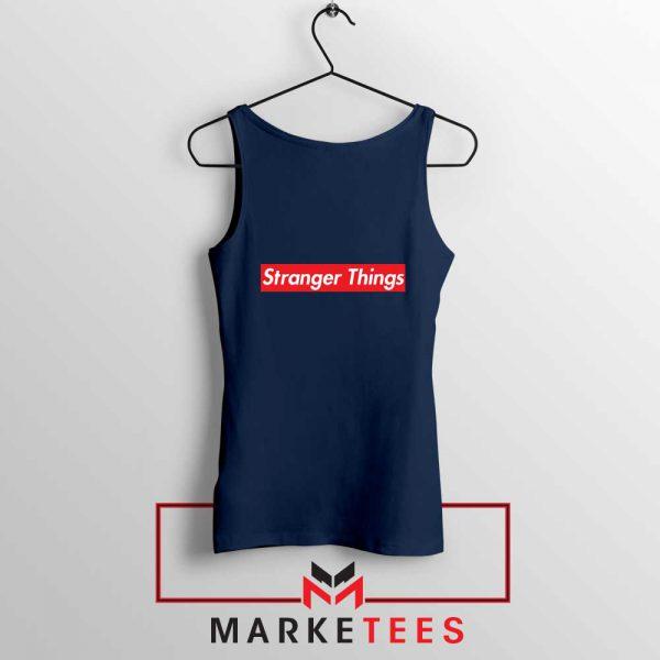 Buy Stranger Things Supreme Parody Navy Blue Tank Top