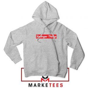 Buy Stranger Things Supreme Parody Sport Grey Hoodie
