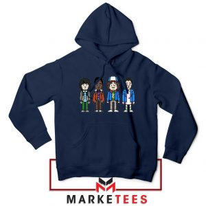 Characters Stranger Things Navy Blue Hoodie