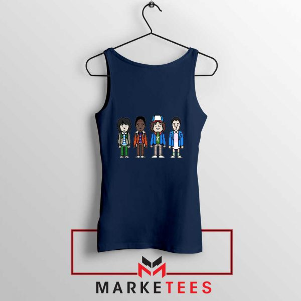 Characters Stranger Things Navy Blue Tank Top