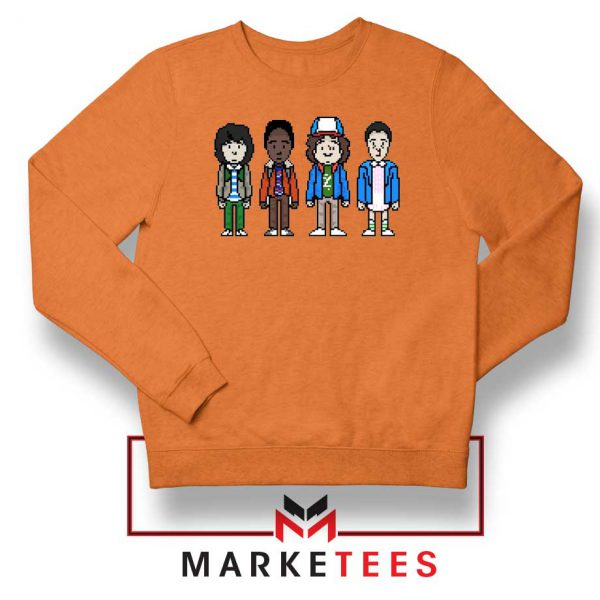 Characters Stranger Things Orange Sweater