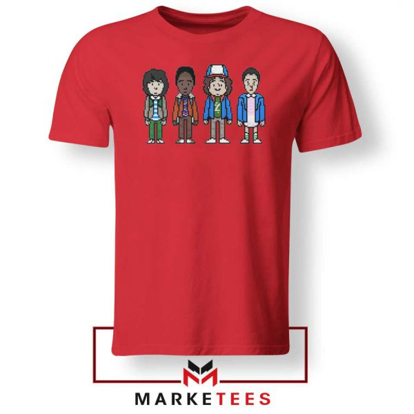 Characters Stranger Things Red Tee Shirt
