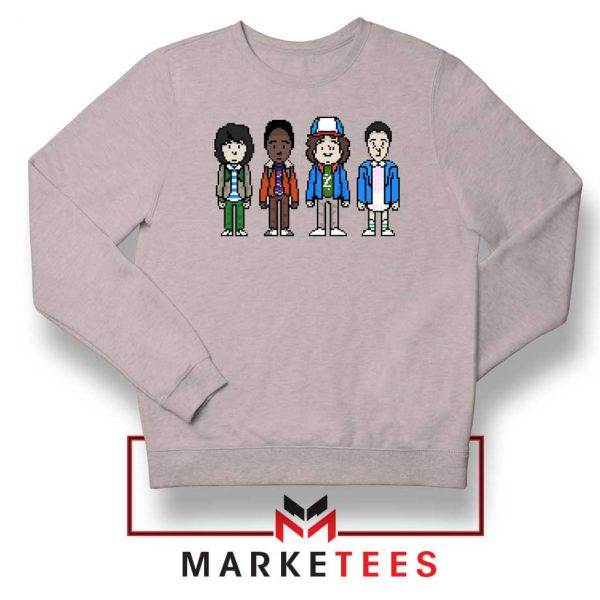 Characters Stranger Things Sport Grey Sweater