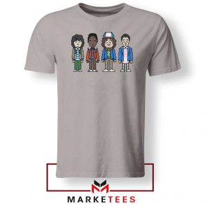Characters Stranger Things Sport Grey Tee Shirt