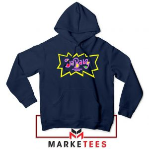 Cheap Rugrats Dababy Navy Blue Hoodie