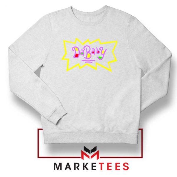 Cheap Rugrats Dababy White Sweatshirt