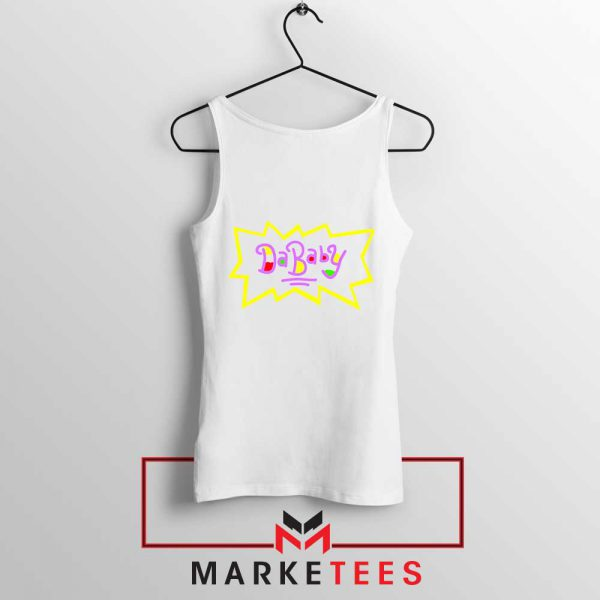 Cheap Rugrats Dababy White Tank Top