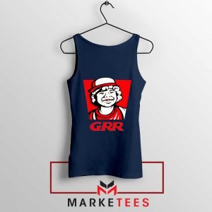 Dustin Henderson GRR Parody Navy Blue Tank Top
