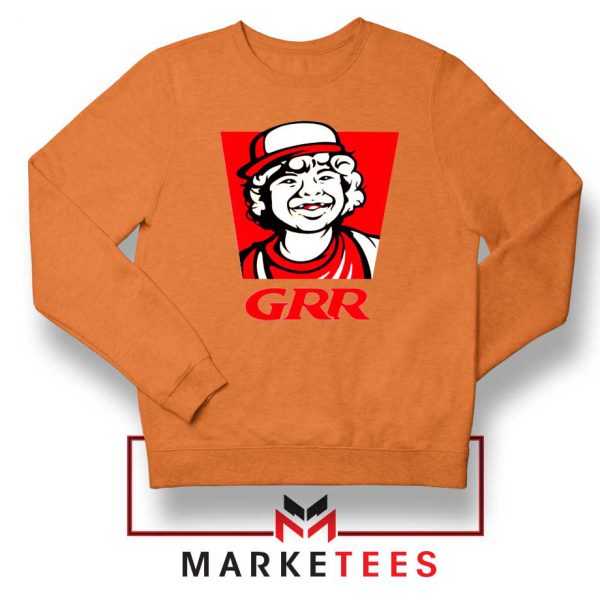 Dustin Henderson GRR Parody Orange Sweater