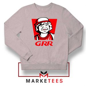 Dustin Henderson GRR Parody Sport Grey Sweater