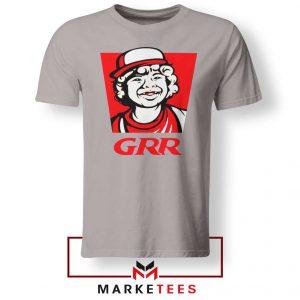 Dustin Henderson GRR Parody Sport Grey Tee Shirt