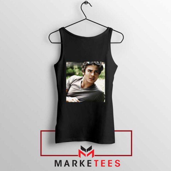 Efron Actor Black Tank Top
