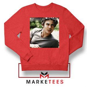 Efron Actor Red Sweatshirt