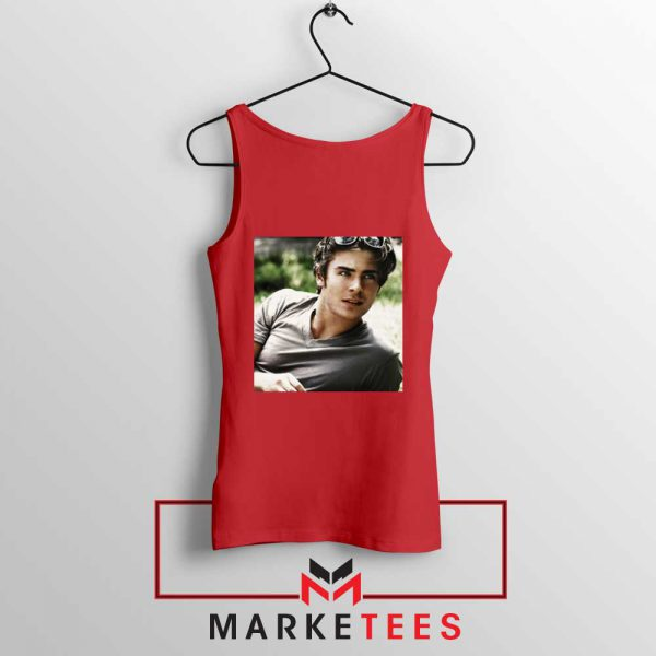Efron Actor Red Tank Top