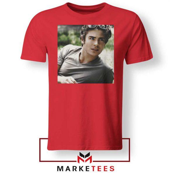 Efron Actor Red Tshirt