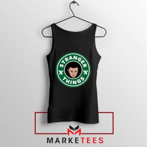 Eleven Starbucks Parody Black Tank Top