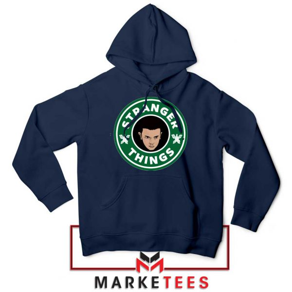 Eleven Starbucks Parody Navy Blue Hoodie