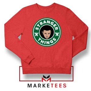 Eleven Starbucks Parody Red Sweatshirt