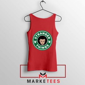 Eleven Starbucks Parody Red Tank Top