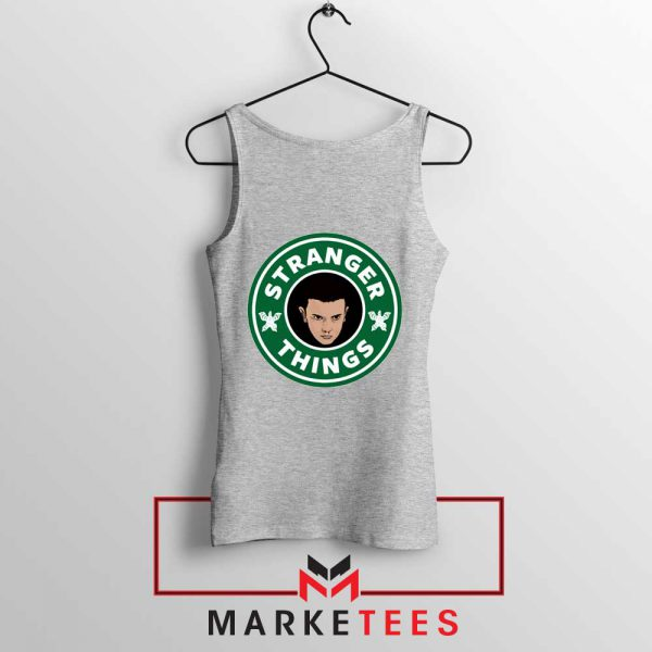 Eleven Starbucks Parody Sport Grey Tank Top