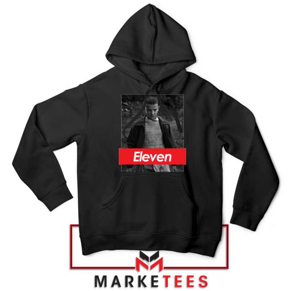Eleven Supreme Parody Black Hoodie