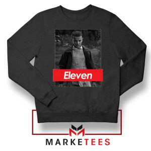 Eleven Supreme Parody Black Sweater