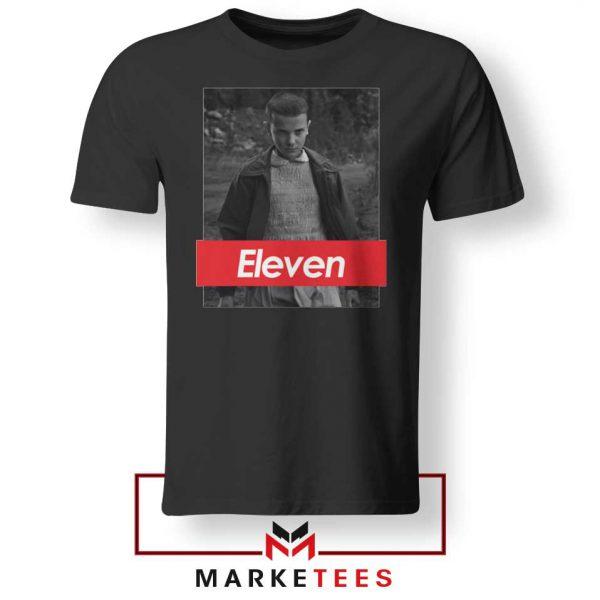 Eleven Supreme Parody Black Tee Shirt