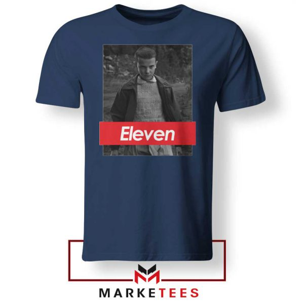 Eleven Supreme Parody Navy Blue Tee Shirt