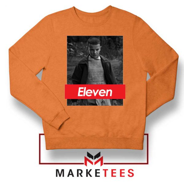 Eleven Supreme Parody Orange Sweater