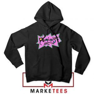 Feminist Rugrats Logo Black Hoodie