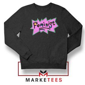 Feminist Rugrats Logo Black Sweatshirt
